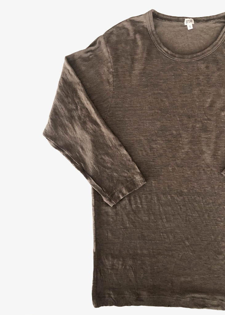 Vlas Blomme_KL Light Quarter Sleeve T-shirt_Olive