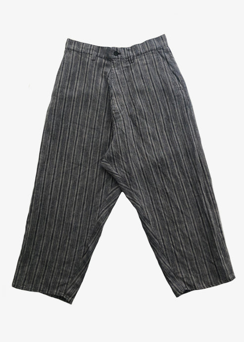 Vlas Blomme_Pencil Stripe Saruel pants_linen pants