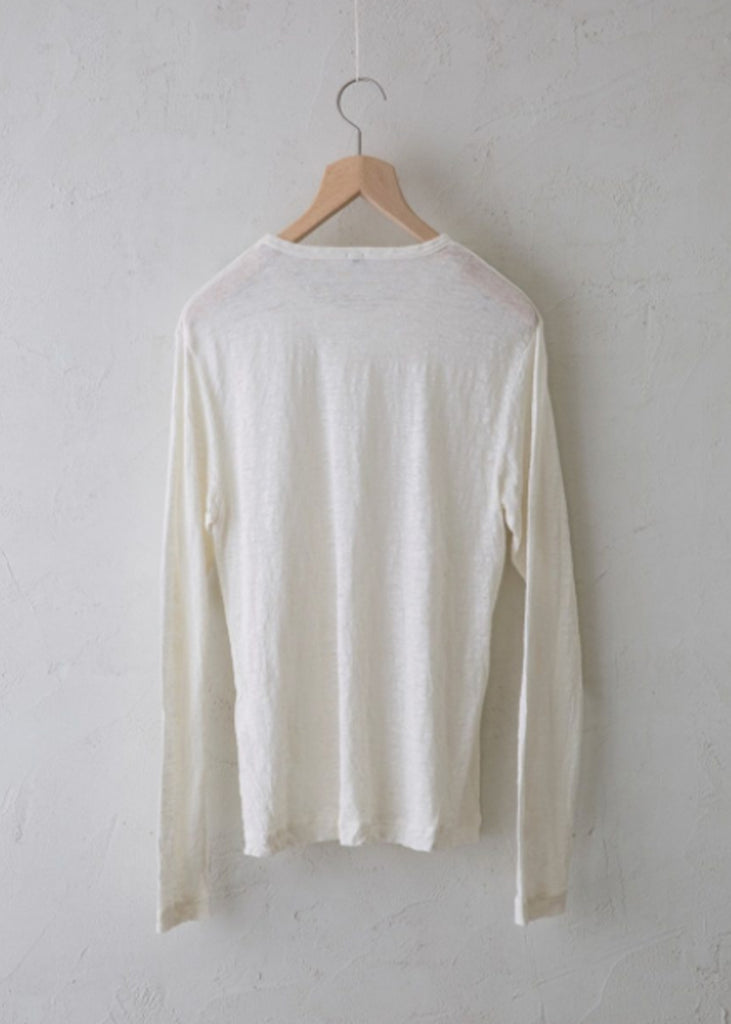 Vlas Blomme_KL Light Long-sleeved T-shirt_Linen_white