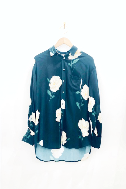 Hope White Flower Print Brave Shirt
