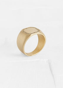 Agas & Tamar Ring Stamp + Engraving 14k gold