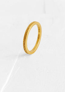 Agas & Tamar 18K Gold Elevated Engraved Ring