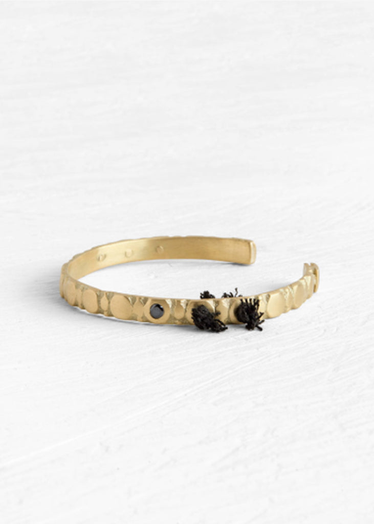 Agas & Tamar 18K Gold Bracelet W/ Diamond - LARGE