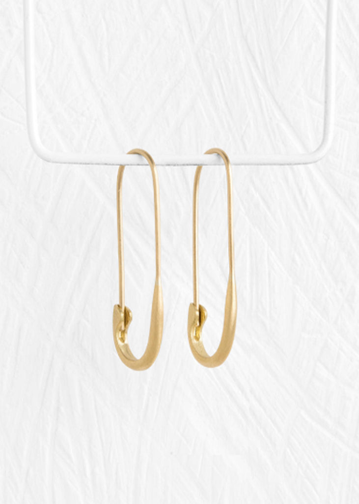 Agas & Tamar Safety Pin Earring 18K Gold