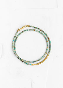 Agas & Tamar_Turquoise Bracelet with Gold Links_BT22KN029-T