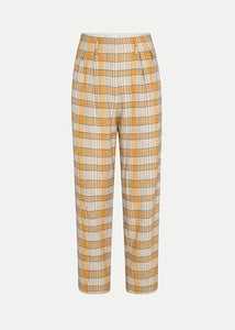 Forte Forte_7745_My Pants_darted trousers in wool tartan_Ambra_Wool Tartan Pinces Pants