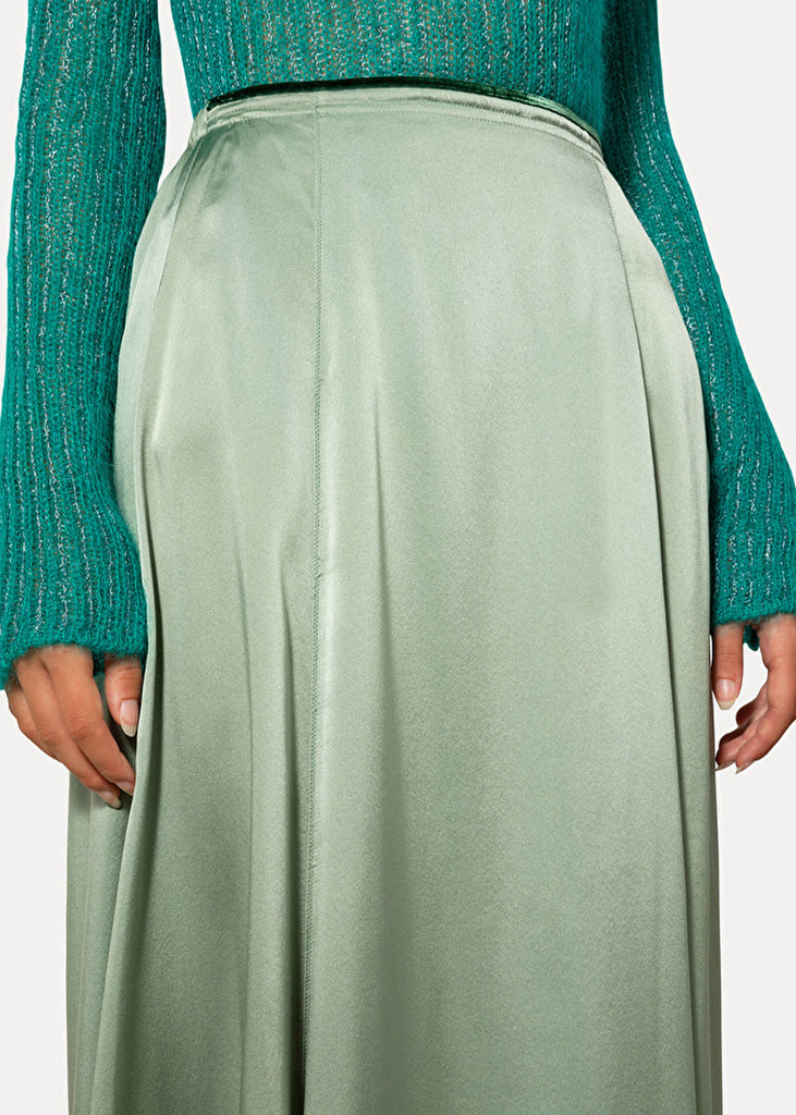 Forte Forte_My Skirt_7782_Silk Satin Skirt_Jade