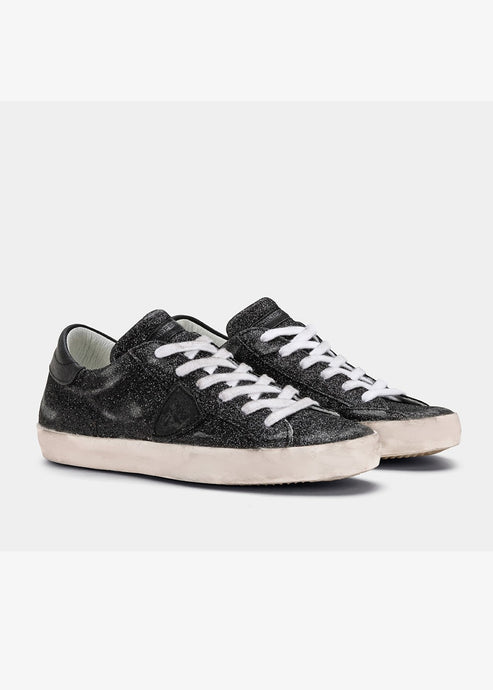Philippe Model Paris Sneakers Glitter Noir