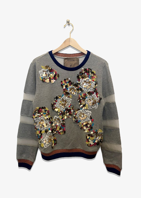 Ugly Girl Crazy Daisy Gray Sweatshirt