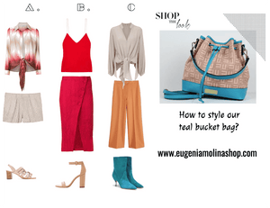 How To style a Teal Bucket Bag
