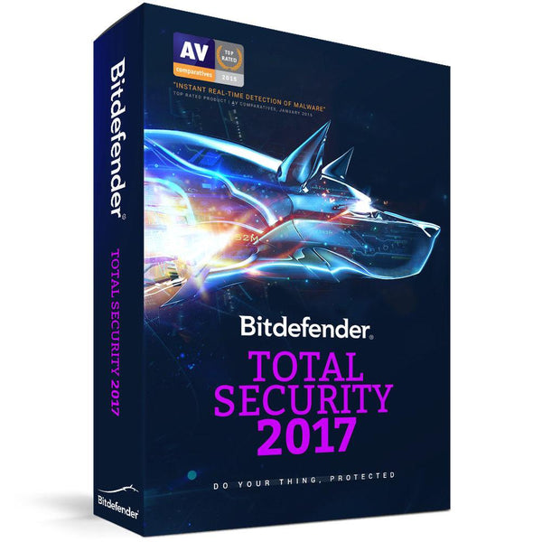 Bitdefender Total Security 2017 5 PC 1 År
