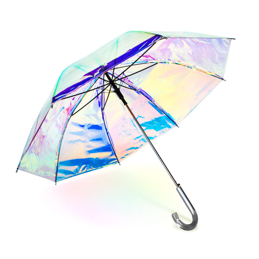 Iridescent Auto Open Stick Umbrella