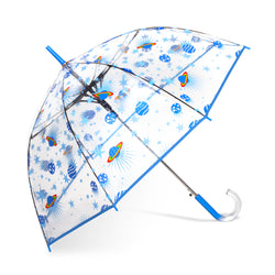 Auto Open Clear Bubble Print Umbrella