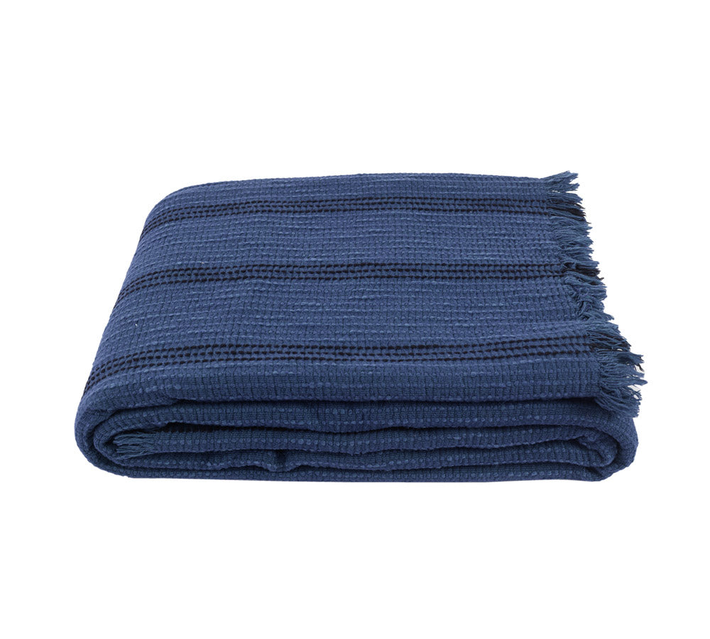 Yuma, Throw, Blanket - Indigo