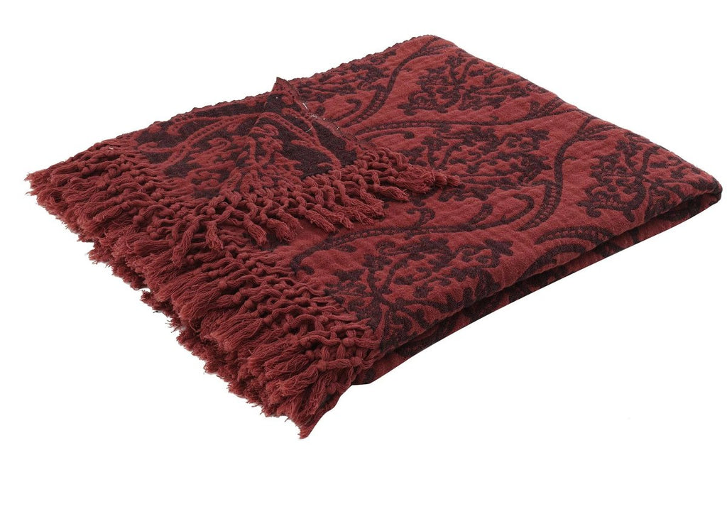 Risus, Throw, Blanket - Burgundy