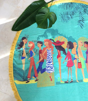 Summer Spirit, Round Towel