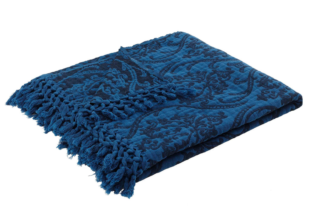 Risus, Throw, Blanket - Cobalt