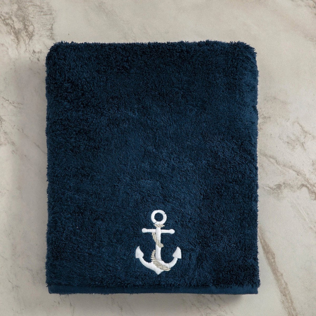 Anchor, Terry Towel, Navy