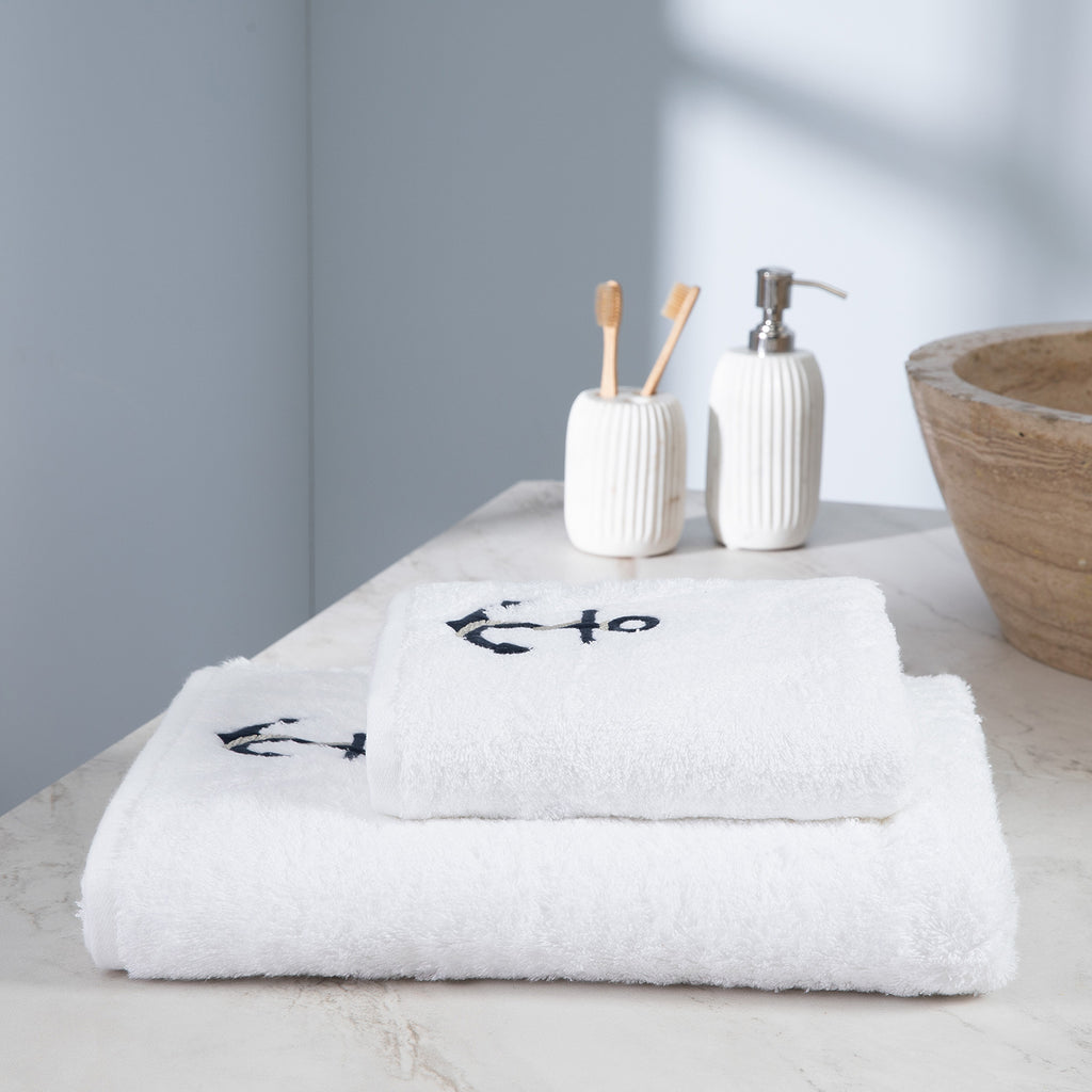 Anchor, Terry Towel, White