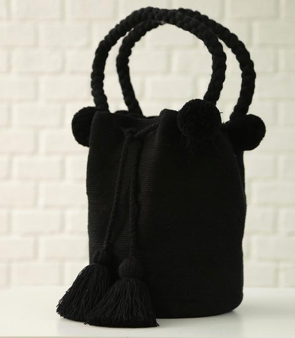 La Barra Black Bag, Handmade Wayuu Bag