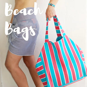 May, Beach and City Bag, Red & Blue