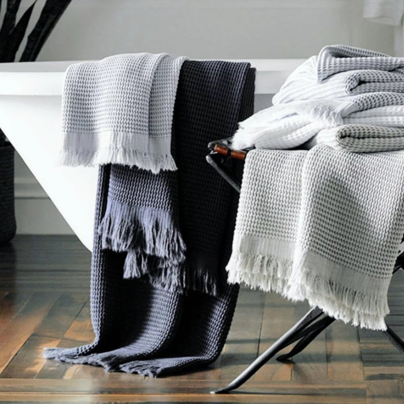 Waffle Turkish Towel, Anthracite