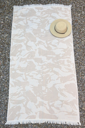Camo, Turkish Towel, Beige
