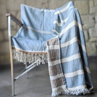 Mykanos, Turkish Towel, Blue