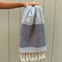 Dali, Turkish Towel, Steel Gray & Purple Gray