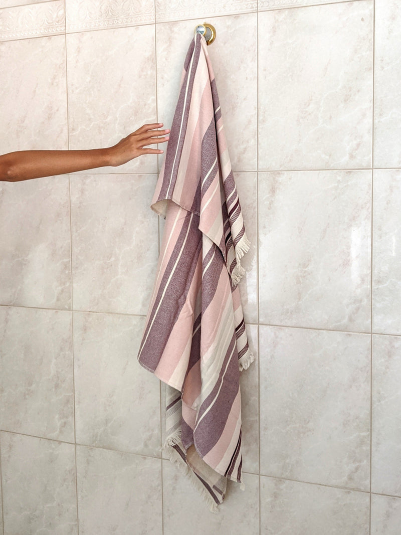 Lara, Turkish Towel, One Side Terry, Burgundy