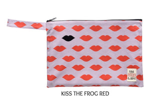 Stylish Vibrant Clutch with a handle waterproof lining splashproof