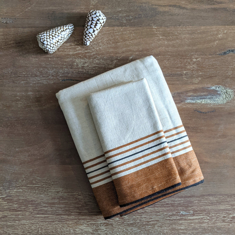 Pandora, Turkish Towel, One Side Terry, Tobacco