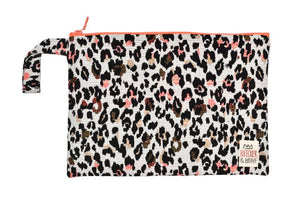 Animal Print Stylish Vibrant Clutch with a handle waterproof lining splashproof