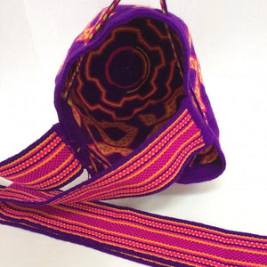 Special Edition - Midi Purple Bag, Handmade Wayuu Bag