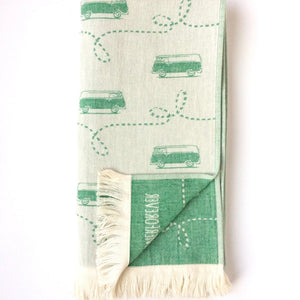Van, Turkish Towel, Green
