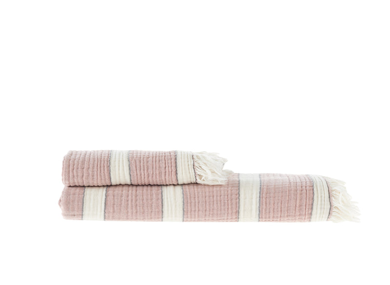 Quattro, Turkish Towel, Rose & Anthracite