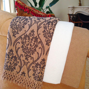 Risus, Throw, Blanket - Beige