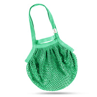 Cotton Net Bag, Double Handles, Green