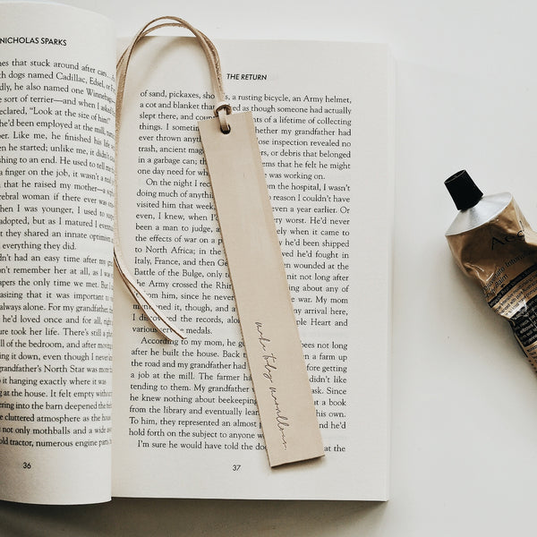 TAMBOON LEATHER CO. + CATHY PENTON ATELIER BOOK MARK {PRE-ORDER}