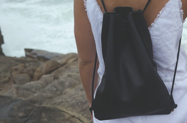 leather rucksack slouchy backpack