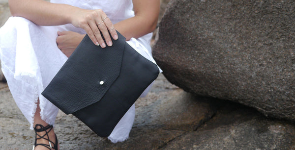 oversize leather envelope clutch