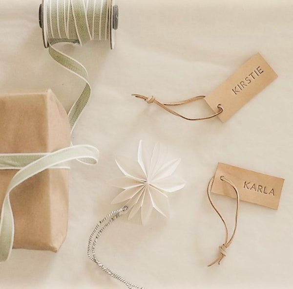 Personalised Leather Gift Tags - Natural