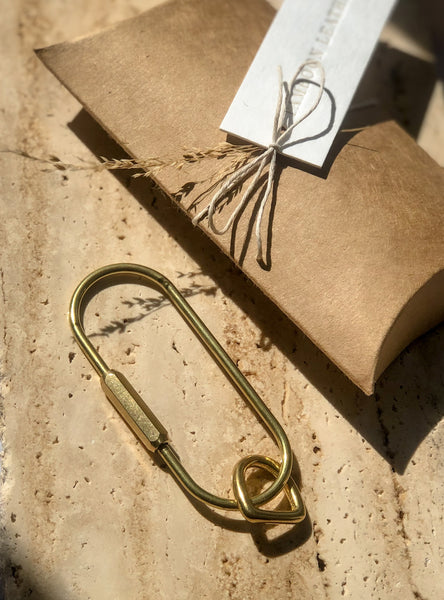 Brass Key Tags Carabiner