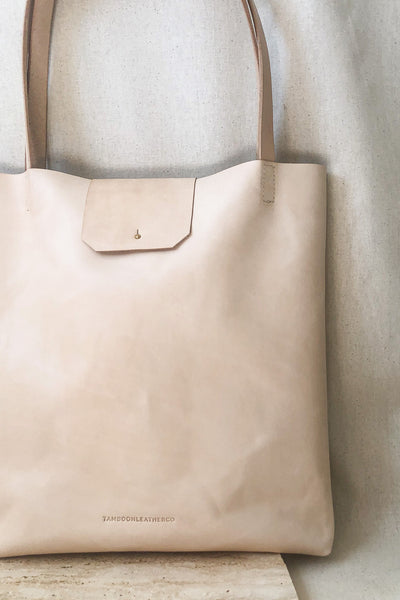 Classic Tote Bag - Black Leather