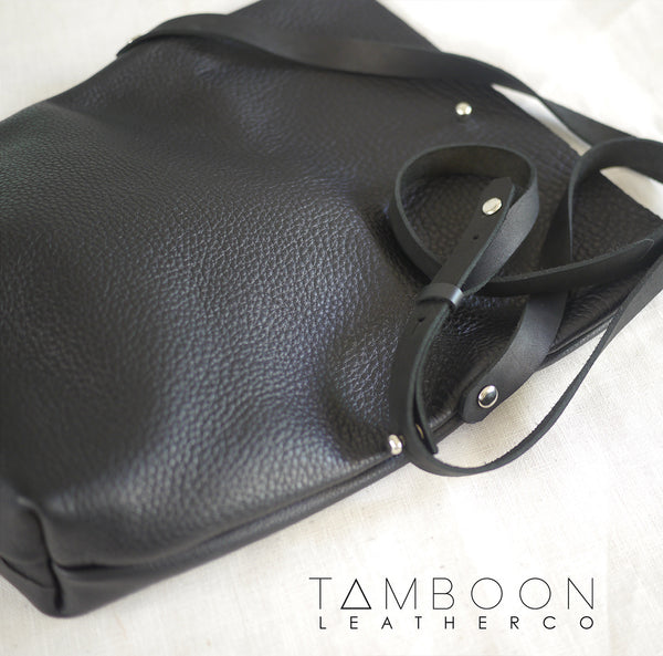tamboon leather side bag