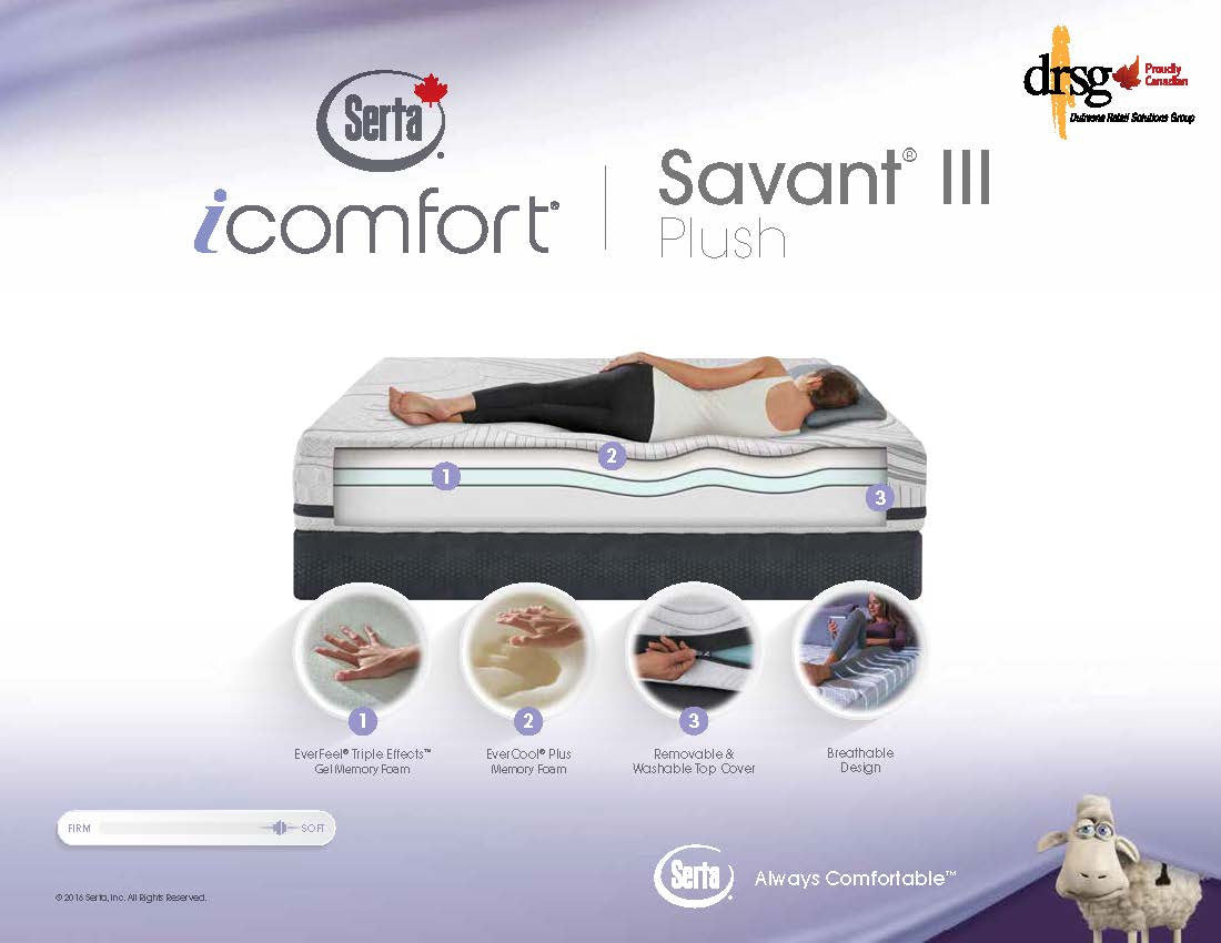 Serta Icomfort Savant Iii Plush Mattress Set Gords Appliance