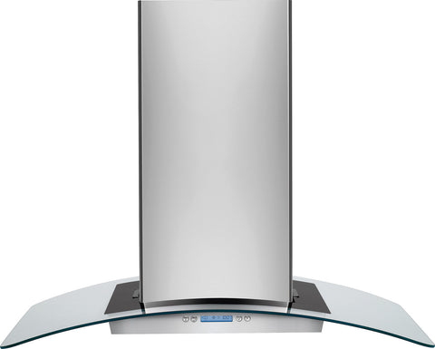"Electrolux 36"" Glass and Stainless Canopy Island-Mount Hood"