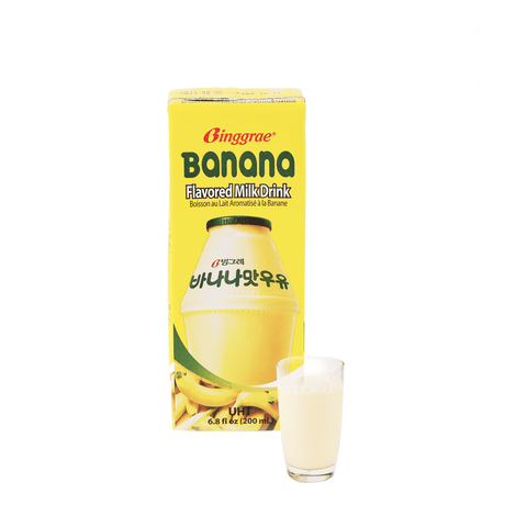 Banana Flavored Milk Drink - 200ml Snackoo