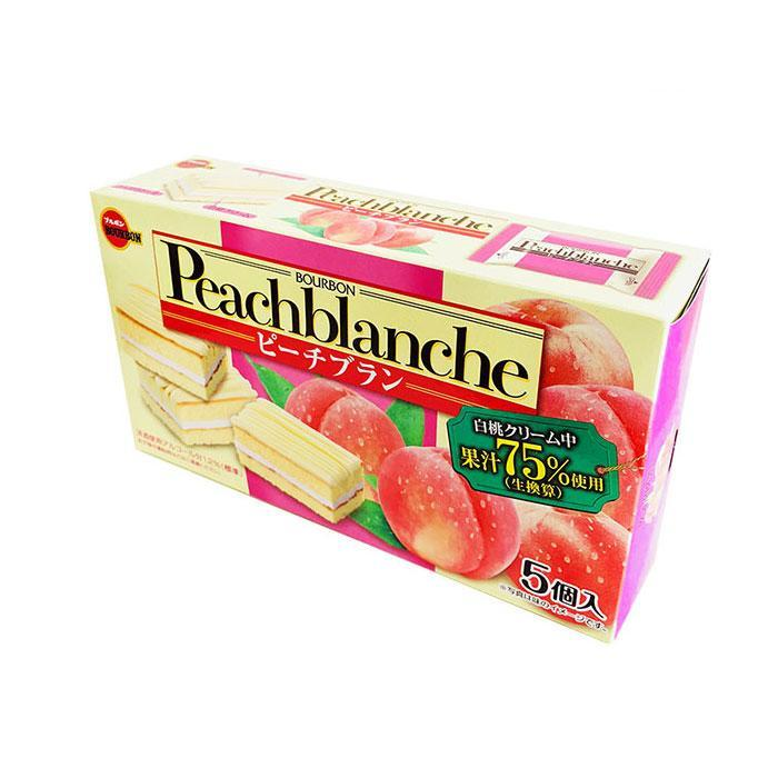 Bourbon Peach Blanche Cream Cake Snackoo