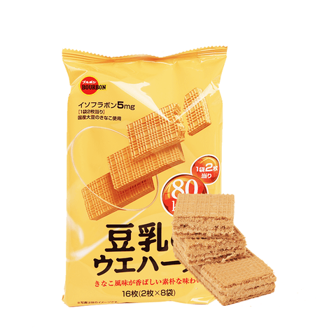 Bourbon Soybean Milk Wafer Cookie - 107g Snackoo